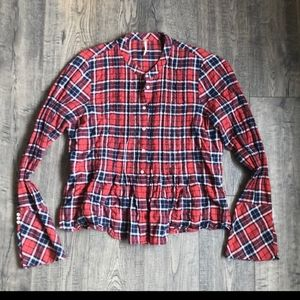 Free people EUC button down plaid